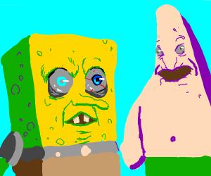 sponge freaker and patrick no