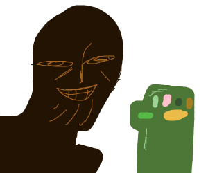 Thanos but he's a black man n' a green gauntl