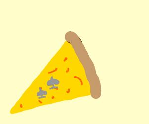 2 of spades inside transparent pizza slice.