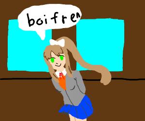 monika from ddlc says 'boi fren'