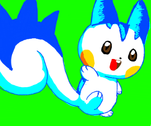 Pachirisu uwu very cute squirrel  pokemon