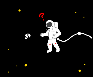 Astronaut finding Xbox controller