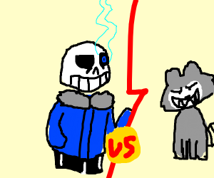 Sans vs racoon