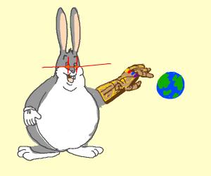 Big Chungus Has The Infinity Gauntlet Drawception