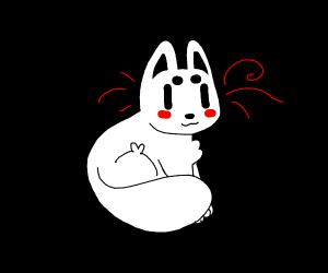 Floofy round cat