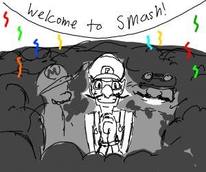 Waluigi gets invited into smash!