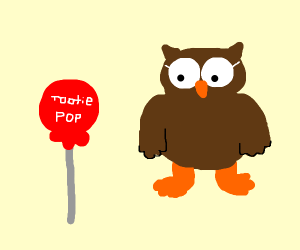 MrOwl, how many licks to cntr of tootsie pop?