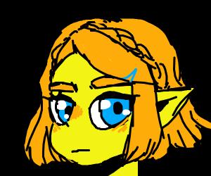 Neon-coloured elf girl