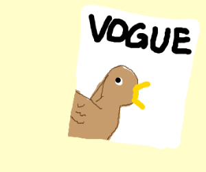 Bird On the cover of Vogue