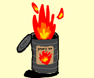 A can of fire