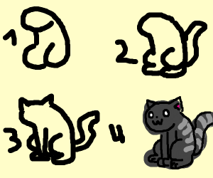 owo how to draw a cat