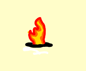 A pit with flames shooting out of it