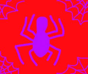 purple spiderman logo