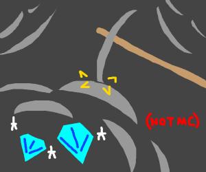 Mining for diamonds (but not mc)