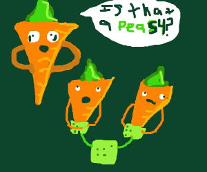 Carrot trying to fit in with his fellow kids