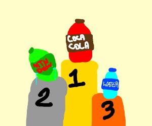 Sad second place mountain dew bottle.