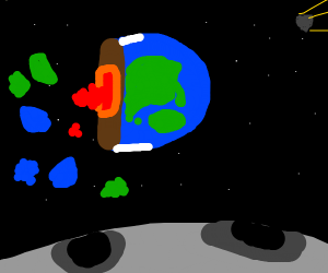 Half of the earth