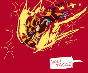 Luxray used volt tackle