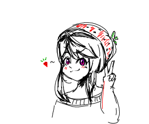 Anime strawberry
