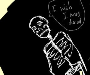 skeleton with a death wish