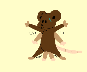 mouse doing jumping jacks