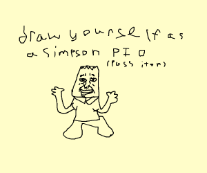 Draw yourself as a simpson! Pass it on!
