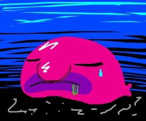A sad blob fish