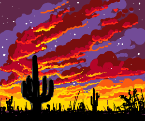 desert is on fire