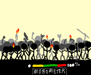 mob is at 100 percent