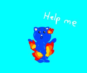 burning hamster :(