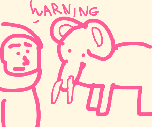 Pink Guy warns about Pink elephant