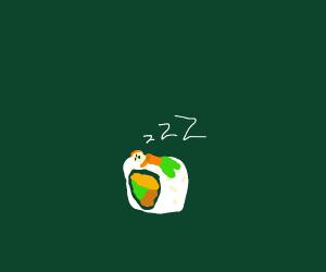 Sleeping on a Sushi Roll