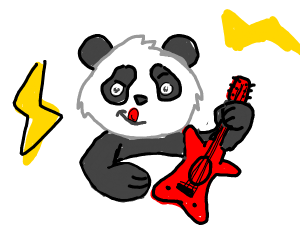 Rock star panda bear