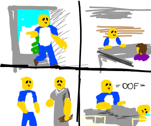 Loss But With Roblox Characters Drawception