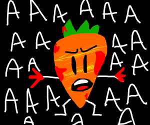 Angry bloody carrot yelling