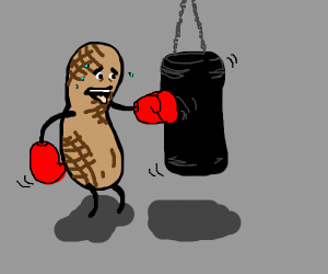 A peanut boxing