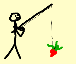 A guy fishing for beatroot
