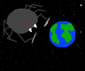big spider's gonna eat the world
