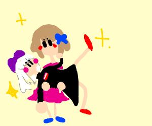 Lesbian couple dancing
