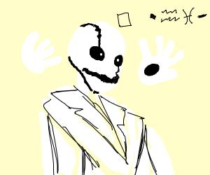 Skeletons skull has cracked