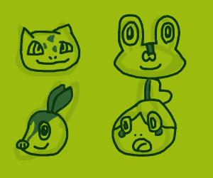 Sobble, Tepig, Bulbasaur, & Froakie Squad