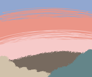 sunset behind hill