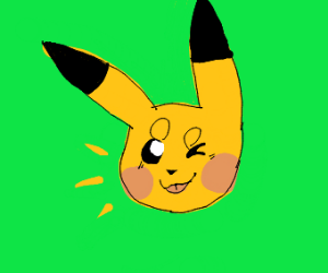 Pikachu winks at you