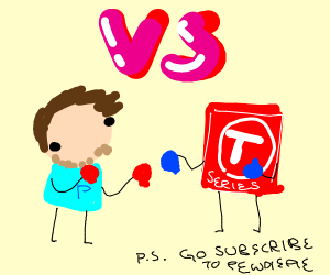 Pewdiepie vs TSeries (boxing)