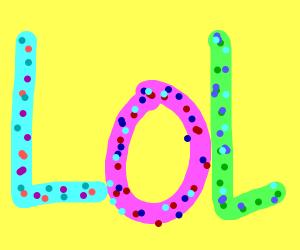 LoL with polka dots