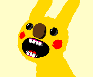 Pikachu with Yellmo-like features