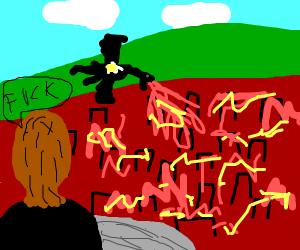 King's Landing on fire