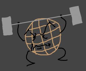 waffle lifting weights