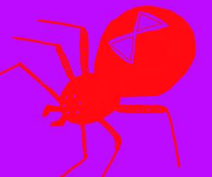 6-legged black widow spider