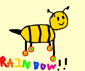 Bee wearing Shoes